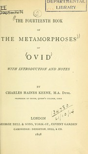Cover of: The fourteenth book of the Metamorphoses, with introd. and notes by Charles Haines Keene