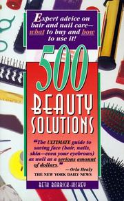 Cover of: 500 beauty solutions