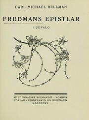Cover of: Fredmans epistlar