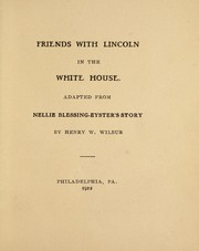 Cover of: Friends with Lincoln in the White House