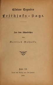 Cover of: Frithjof's Saga: A Tale of Ancient Norway.