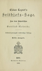 Cover of: Frithjofs Sage