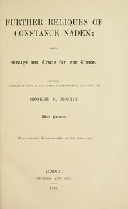 Cover of: Further reliques of Constance Naden