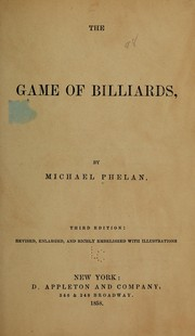 Cover of: The game of billiards