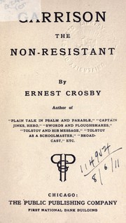 Garrison the non-resistant by Crosby, Ernest Howard