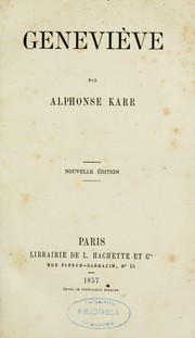 Cover of: Geneviève