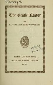 Cover of: The gentle reader