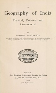 Cover of: A geography of India