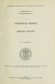 Cover of: Geological report on Arenea County
