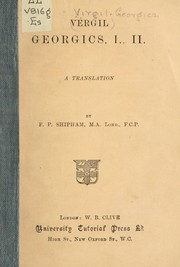 Cover of: Georgics, I., II