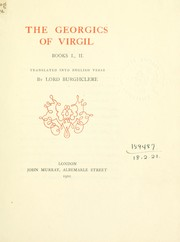 Cover of: The Georgics, Books I., II