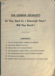Cover of: The German socialists