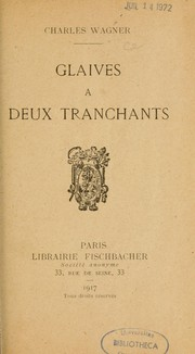 Cover of: Glaives à deux tranchants
