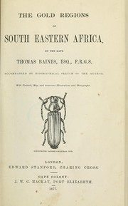 Cover of: The gold regions of south eastern Africa | Baines, Thomas