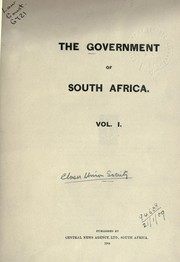 Cover of: The Government of South Africa |