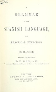 Cover of: Grammar of the Spanish language