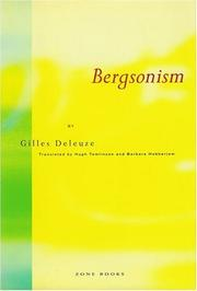 Cover of: Bergsonism