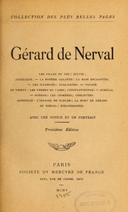 Cover of: Gérard de Nerval