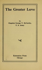 Cover of: The greater love