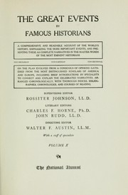 Cover of: The great events by famous historians