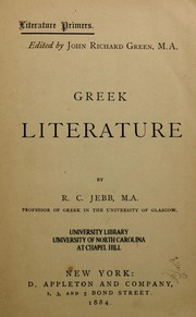 Cover of: Greek literature