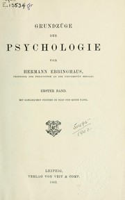 Cover of: Grundzüge der Psychologie