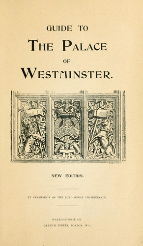 Guide to the Palace of Westminster. by