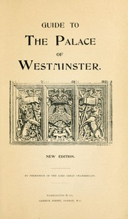 Cover of: Guide to the Palace of Westminster. by