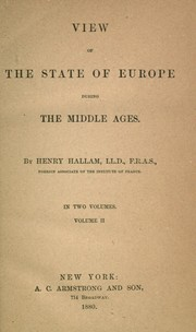 Cover of: Hallam's works