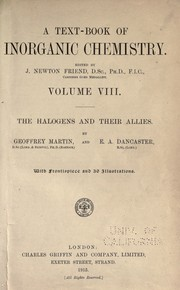 Cover of: The halogens and their allies