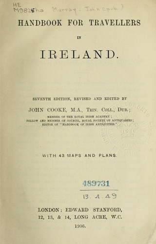 Handbook for travellers in Ireland by John Murray (Firm)
