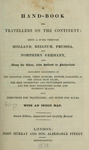 Cover of: A hand-book for travellers on the continent by John Murray (Firm)