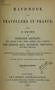 Cover of: Hand-book for travellers in France by
