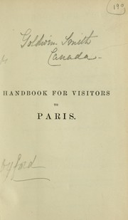 Cover of: Handbook for visitors to Paris by