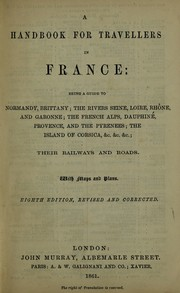 Cover of: A handbook for travellers in France | John Murray (Firm)