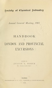 Cover of: Handbook of London and provincial excursions