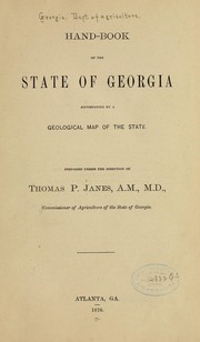 Cover of: Hand-book of the state of Georgia | Georgia. Dept. of Agriculture.
