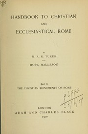 Cover of: Handbook to Christian and ecclesiastical Rome by