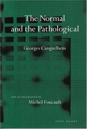 Cover of: The normal and the pathological