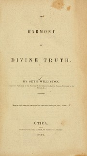Cover of: The harmony of divine truth