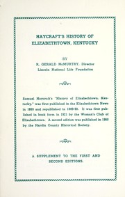 Cover of: Haycraft's History of Elizabethtown, Kentucky
