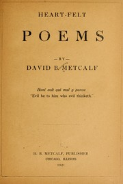 Cover of: Heart-felt poems