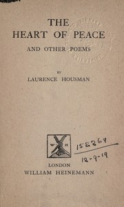 Cover of: The heart of peace, and other poems