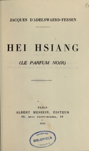Cover of: Hei Hsiang =