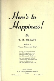 Cover of: Here's to happiness