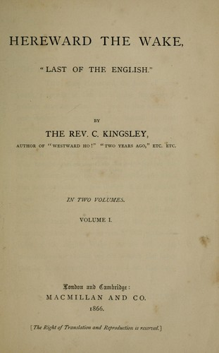 Hereward the Wake by Charles Kingsley