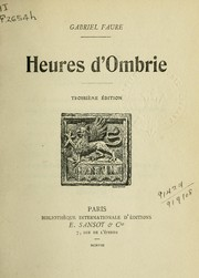 Cover of: Heures d'Ombrie