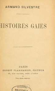 Cover of: Histoires gaies