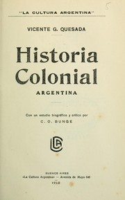 Cover of: Historia colonial argentina