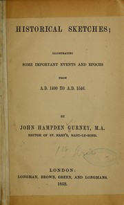 Cover of: Historical sketches
